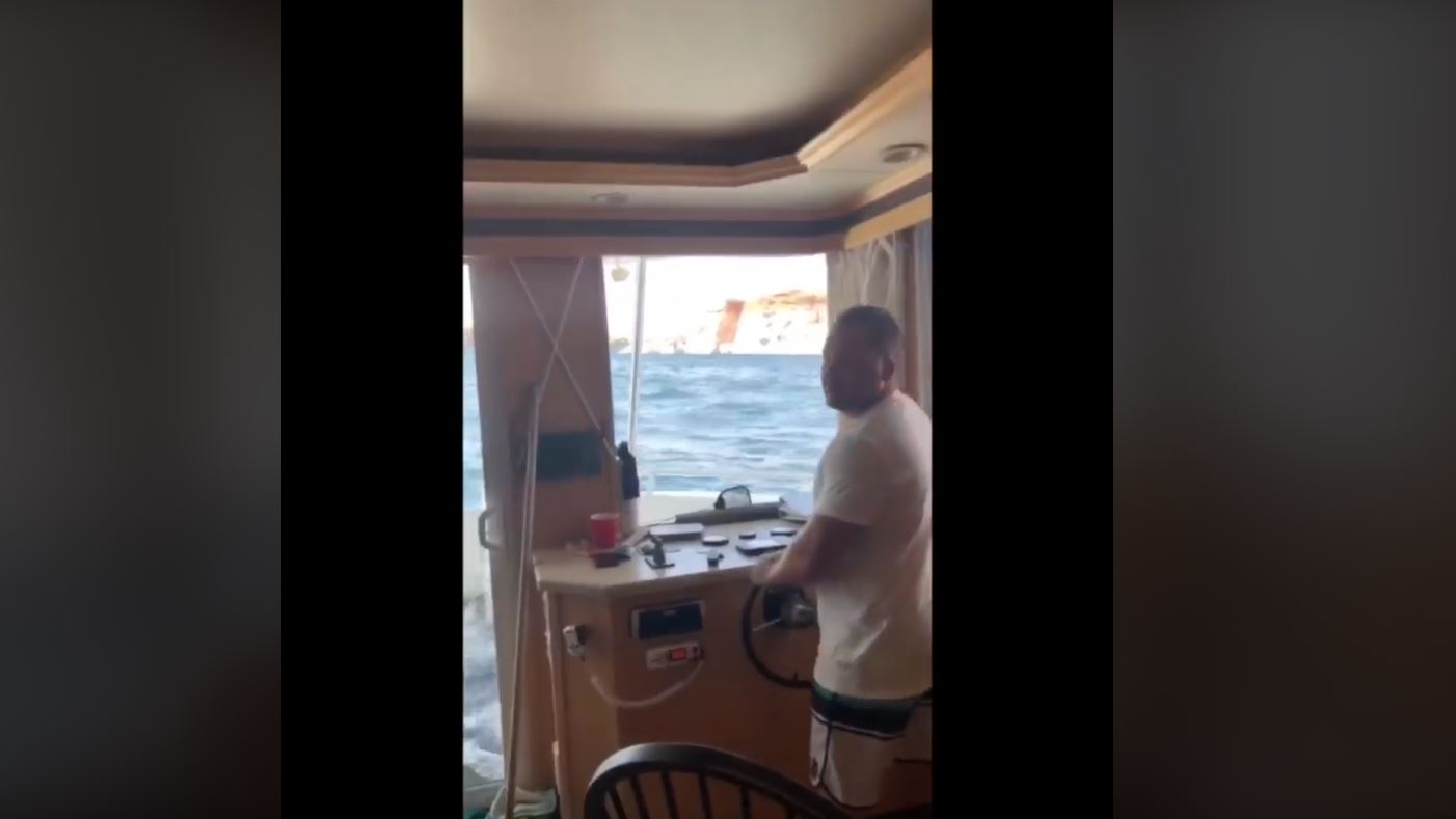 Jimmy Rex is known as a Utah motivational speaker and real estate expert, who may now add to his insignia viral video sensation, after a Facebook post of his house boat sinking. (Photo: Jimmy Rex / Facebook)<p></p>