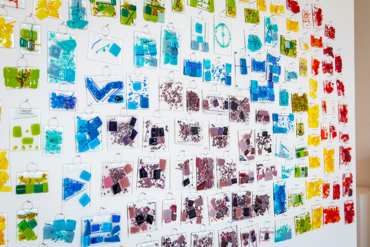 They've worked with thousands of children across Cincinnati and beyond to create site-specific glass installations and projects. One of their projects is Hope Rainbow, created by 166 area children in partnership with the CRC Recreation Centers. / Image: Elizabeth A. Lowry // Published: 10.10.20