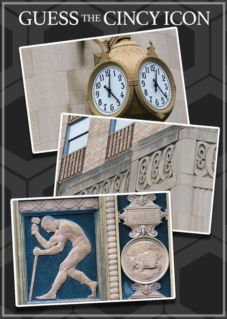 #2: These details might make you look differently at this particular Cincy icon. HINT: It's on a prominent corner of Downtown... / Image: Phil Armstrong, Cincinnati Refined // Published: 4.24.19