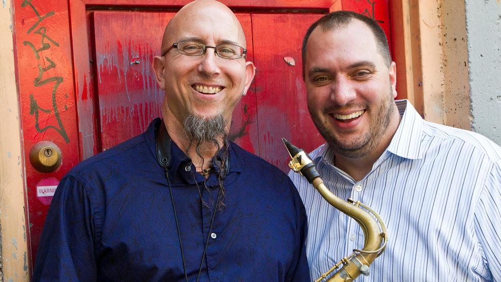 Caleb with Jeff Coffin from the Dave Matthews Band.jpg