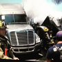 Semi-trailer truck catches on fire in St. Lucie County