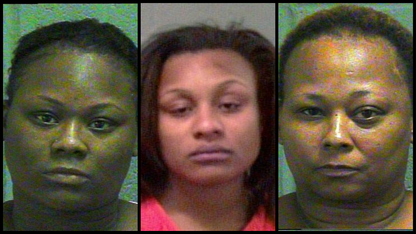Three women have been charged after an infant was burned so severely that his leg had to be amputated. (Oklahoma County Jail)