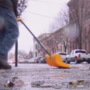 After early December snow, Albany residents clean up