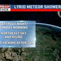 Lyrid meteor shower peaks early Sunday morning
