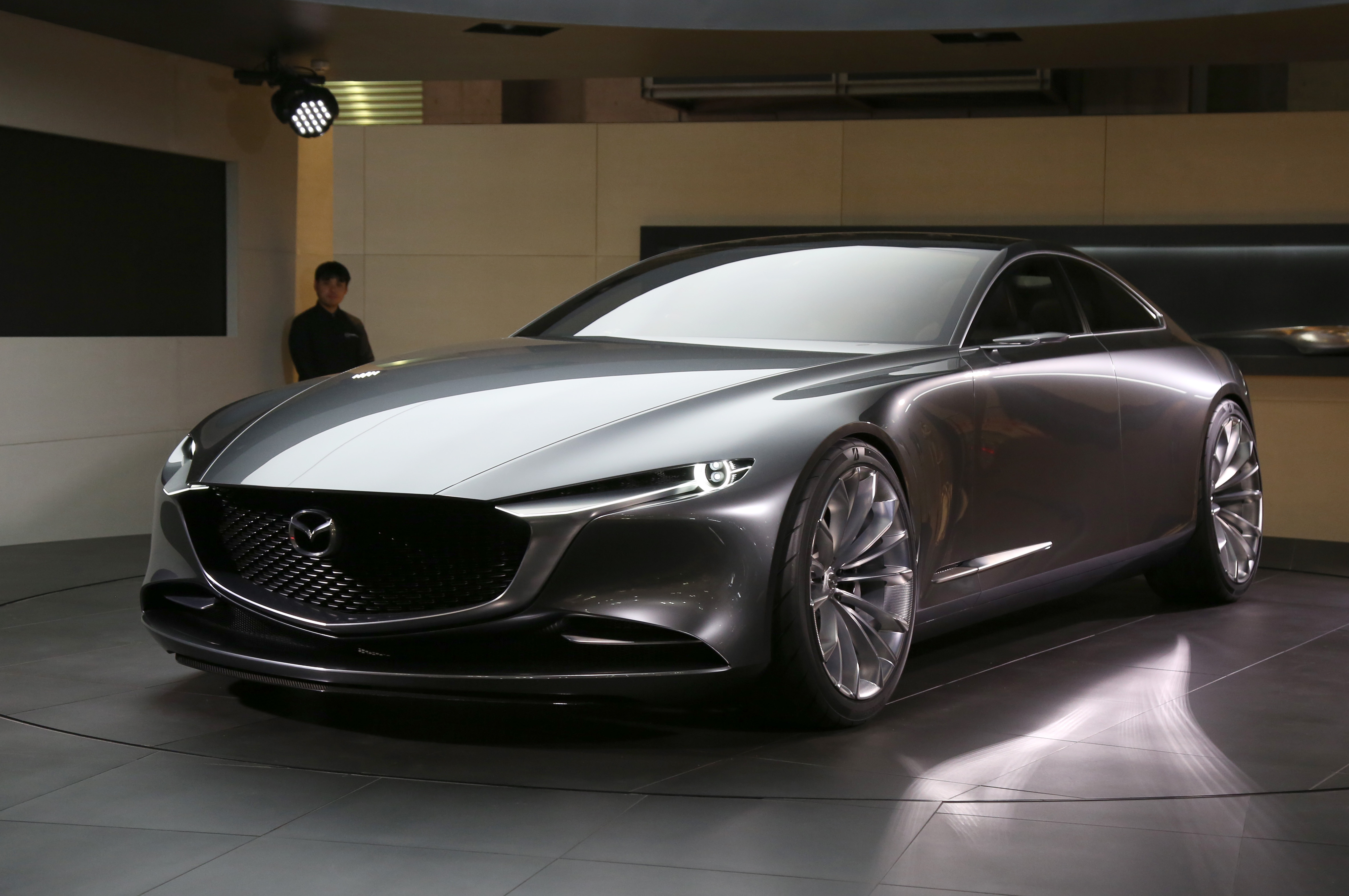Tokyo Motor Show 2017  Featuring: Mazda Vision Coupé Concept Where: Tokyo, Japan When: 25 Oct 2017 Credit: Yukio Tomita/Future Image/WENN.com  **Not available for publication in Germany**
