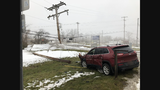 Police chase in Emmett Township ends with crash, fire and power outage