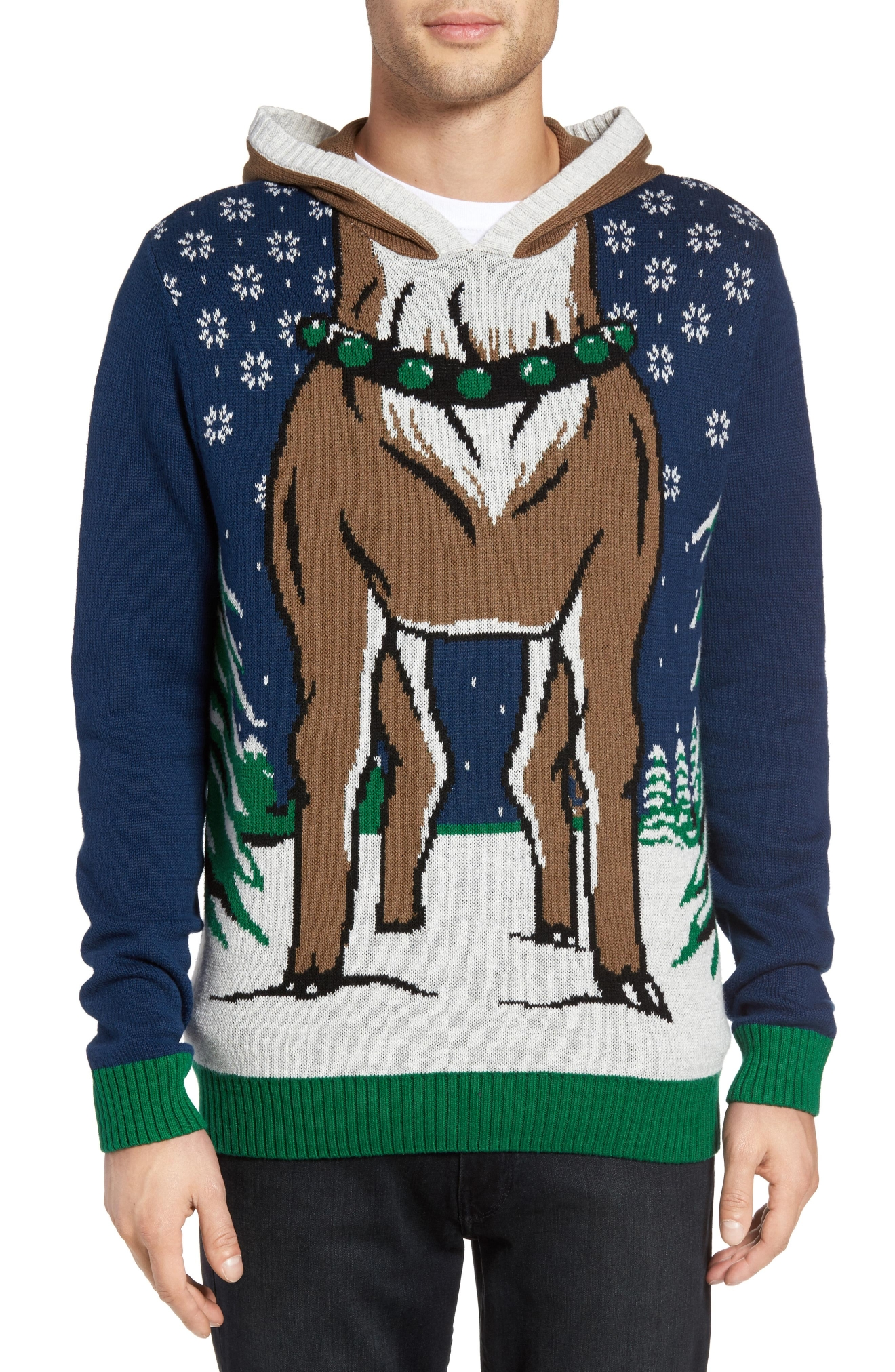 The Rail Reindeer Intarsia Hooded Sweater, $49.50 (Photo: Nordstrom)