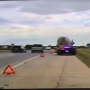 VIDEO: Oklahoma Highway Patrol trooper's close call with erratic driver