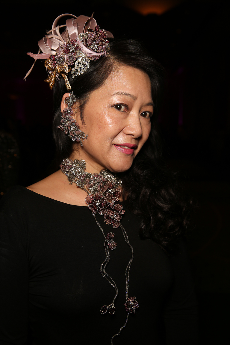 Jewelry designer Mindy Lam showed off her creations.{ } (Amanda Andrade-Rhoades/DC Refined)