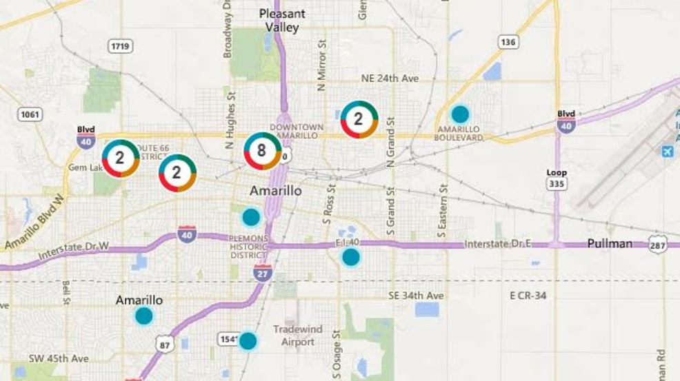 Xcel Energy Power Outages affecting parts of downtown Amarillo KVII