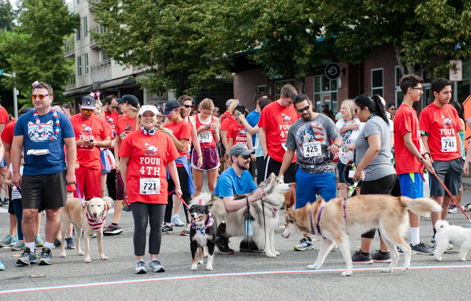 A costume contest, dog walk, free watermelons, bananas and adoptable pets? We can think of no better way to celebrate the Fourth of July. See highlights from this year's Four on the Fourth Dog Jog & Walk, with a portion of proceeds benefitting Seattle Humane Bellevue. (Image: Elizabeth Crook / Seattle Refined){ }
