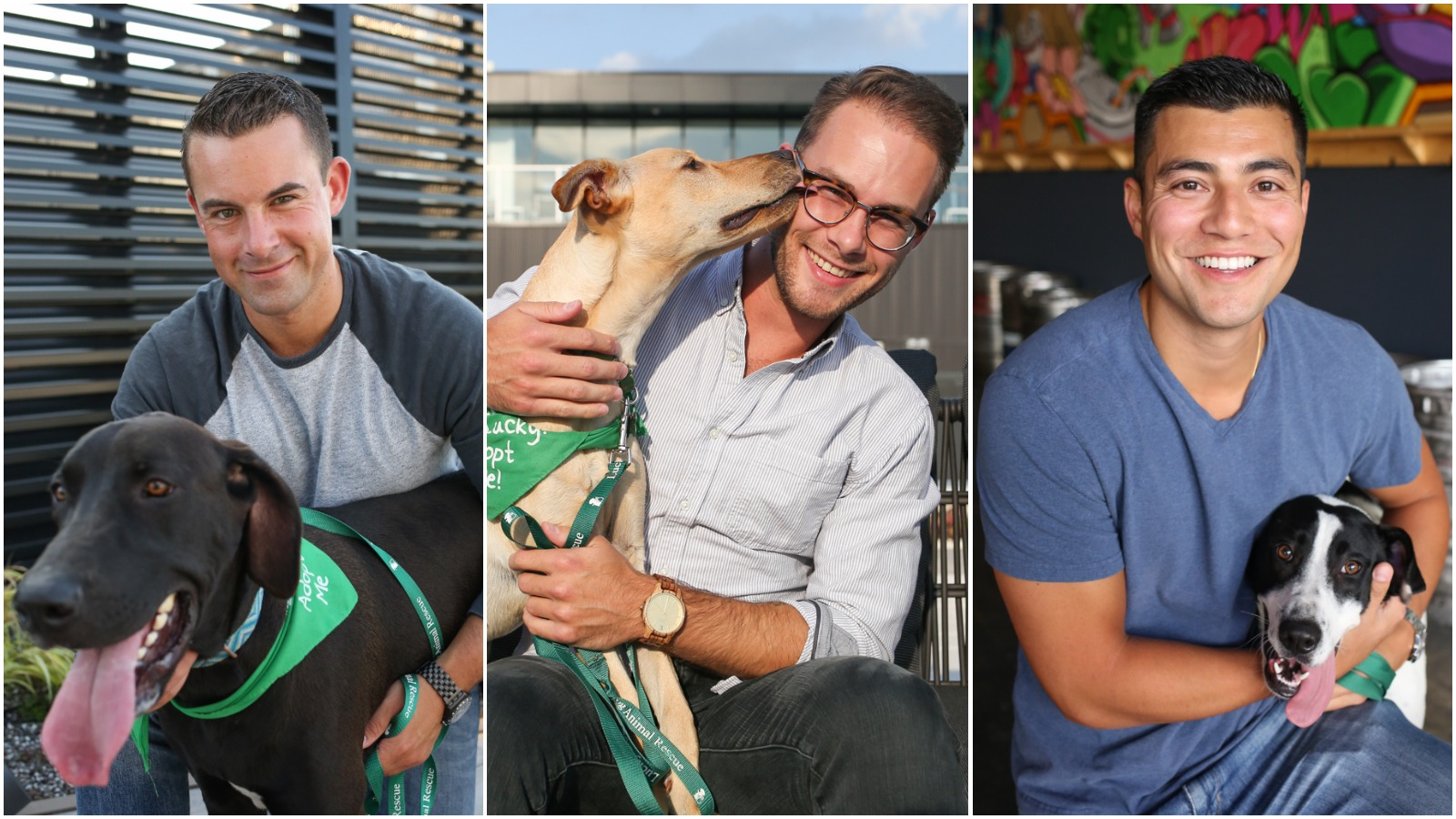 All dogs featured in the photo gallery are available for adoption through Lucky Dog Animal Rescue (http://www.luckydoganimalrescue.org) and all the men featured are single ... you're welcome! (Image: Amanda Andrade-Rhoades/ DC Refined)