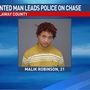 Man wanted for felony warrant leads police on chase in Fulton