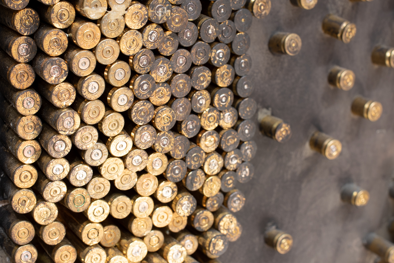 "Entitled ""Massacre,"" this sculpture made from thousands of bullet casings is dedicated to the countless victims executed by firing squad.{ }/ Image: Ronny Salerno // Published: 1.14.19"