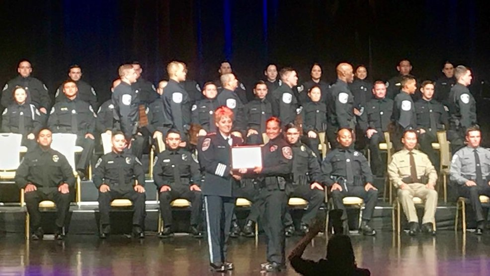 49 new local police officers receive their badges at