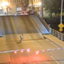 Bicyclist versus drawbridge. What could possibly go wrong?
