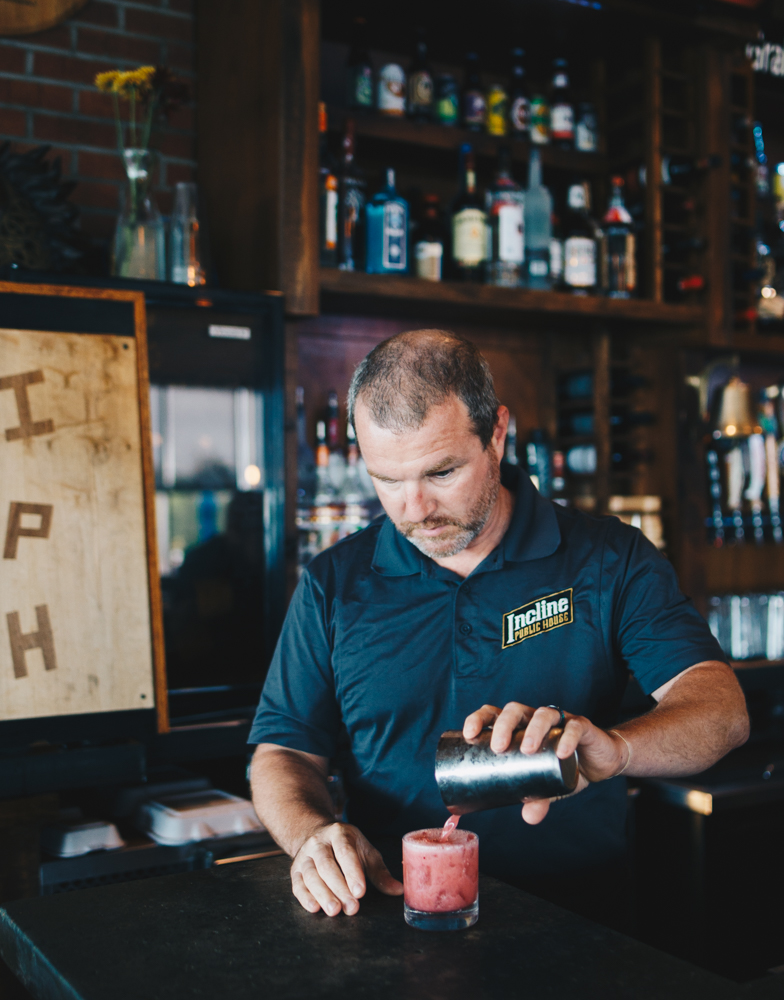 Kevin Geers (bar manager) crafting some cocktail magic / Image: Catherine Viox // Published: 10.17.18