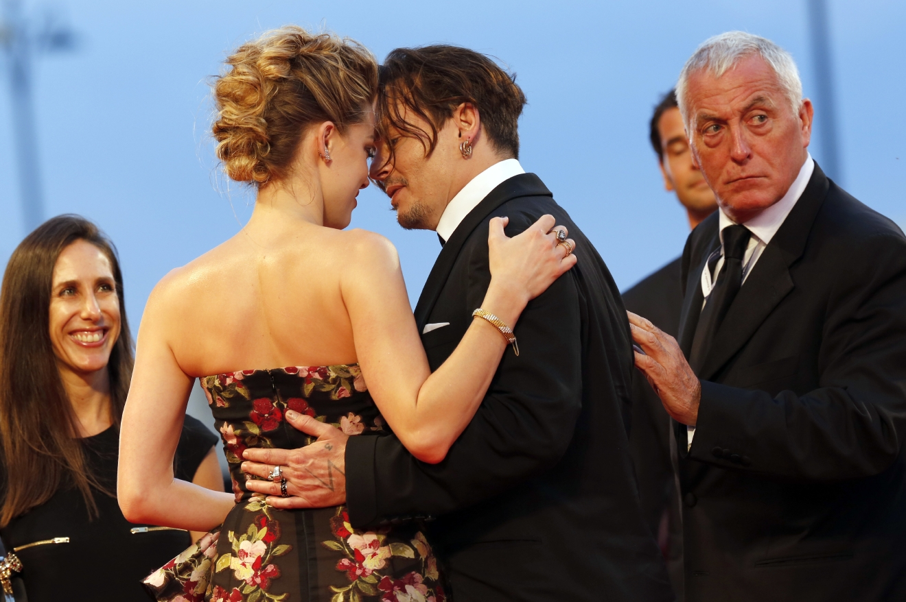 72nd Venice Film Festival - 'The Danish Girl' - Premiere  Featuring: Amber Heard, Johnny Depp Where: Venice, Italy When: 05 Sep 2015 Credit: Dave Bedrosian/Future Image/WENN.com  **Not available for publication in Germany, Poland, Russia, Hungary, Slovenia, Czech Republic, Serbia, Croatia, Slovakia**
