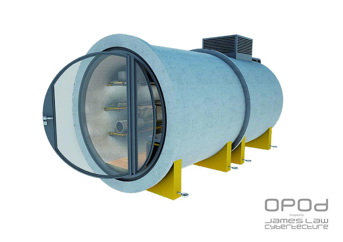 Featuring: OPod Tube Housing by James Law Cybertecture When: 15 Jan 2018 Credit: James Law Cybertecture/Cover Images
