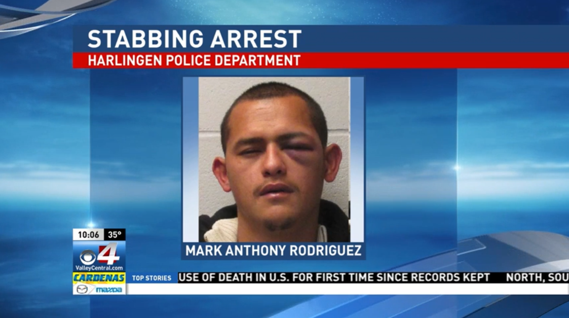 Mark Anthony Rodriguez, 27, of Harlingen was charged with  aggravated assault with a deadly weapon. (Photo courtesy of the Harlingen Police Department)