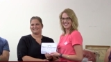 First Farm Credit Union presents check to Quincy Ag Program