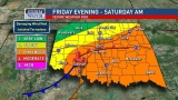 Severe weather chances for Friday, Saturday