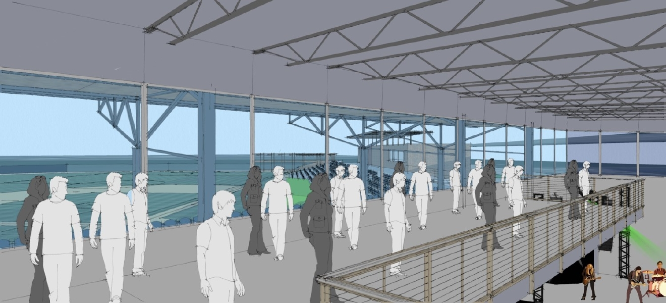 "A rendering of the indoor concert venue being proposed as part of ""The Shipyard"". (Photo Courtesy: City of Green Bay)"