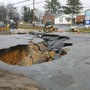 PHOTOS: Massive sinkhole opens up after water main break in Cookeville