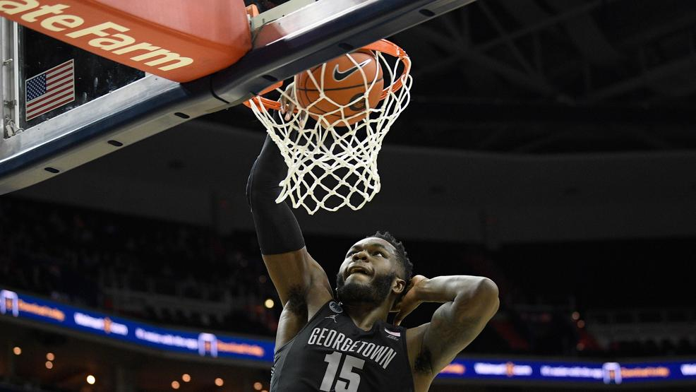 Georgetown upsets No. 17 Villanova to give Patrick Ewing first win over ranked team