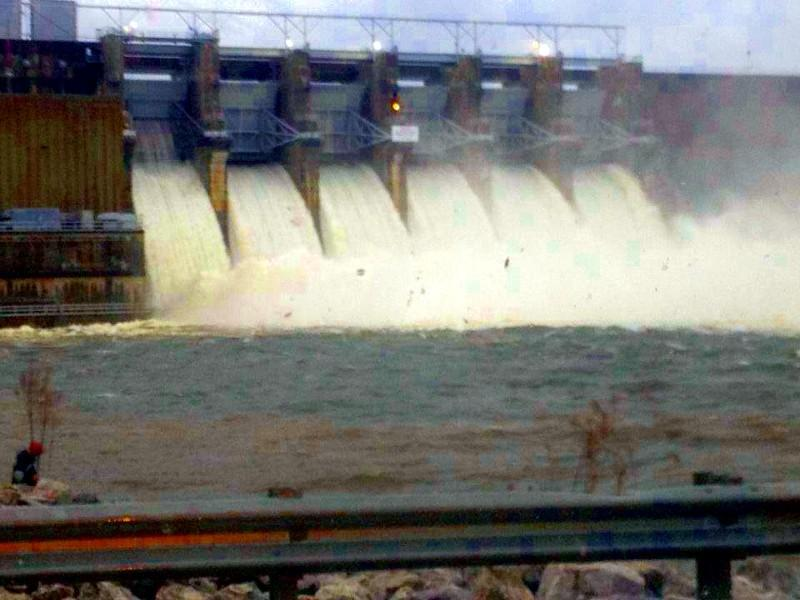 Floodgates open at Harris Dam in on the Tallapoosa near Cragford... photo from @dirtracing14