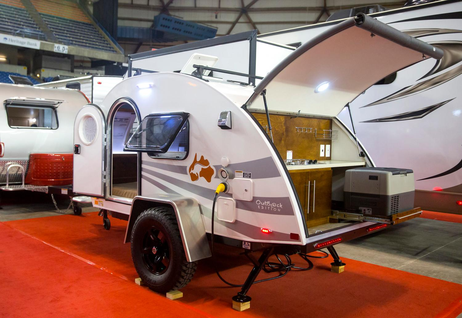 The Tacoma RV Show is happening this weekend (Jan. 18-21) and something special caught our eye when we were visiting. All the TEENY TINY RVs that are available for purchase! We decided to make our way around the giant show, seeking out the cutest, tiniest mini RVs to chronicle. Click through and check them out, which one would you buy? Best of all, all are under $25,00 (cheap for RV standards)! (Image: Sy Bean / Seattle Refined)