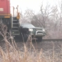 No one injured after train collides with truck