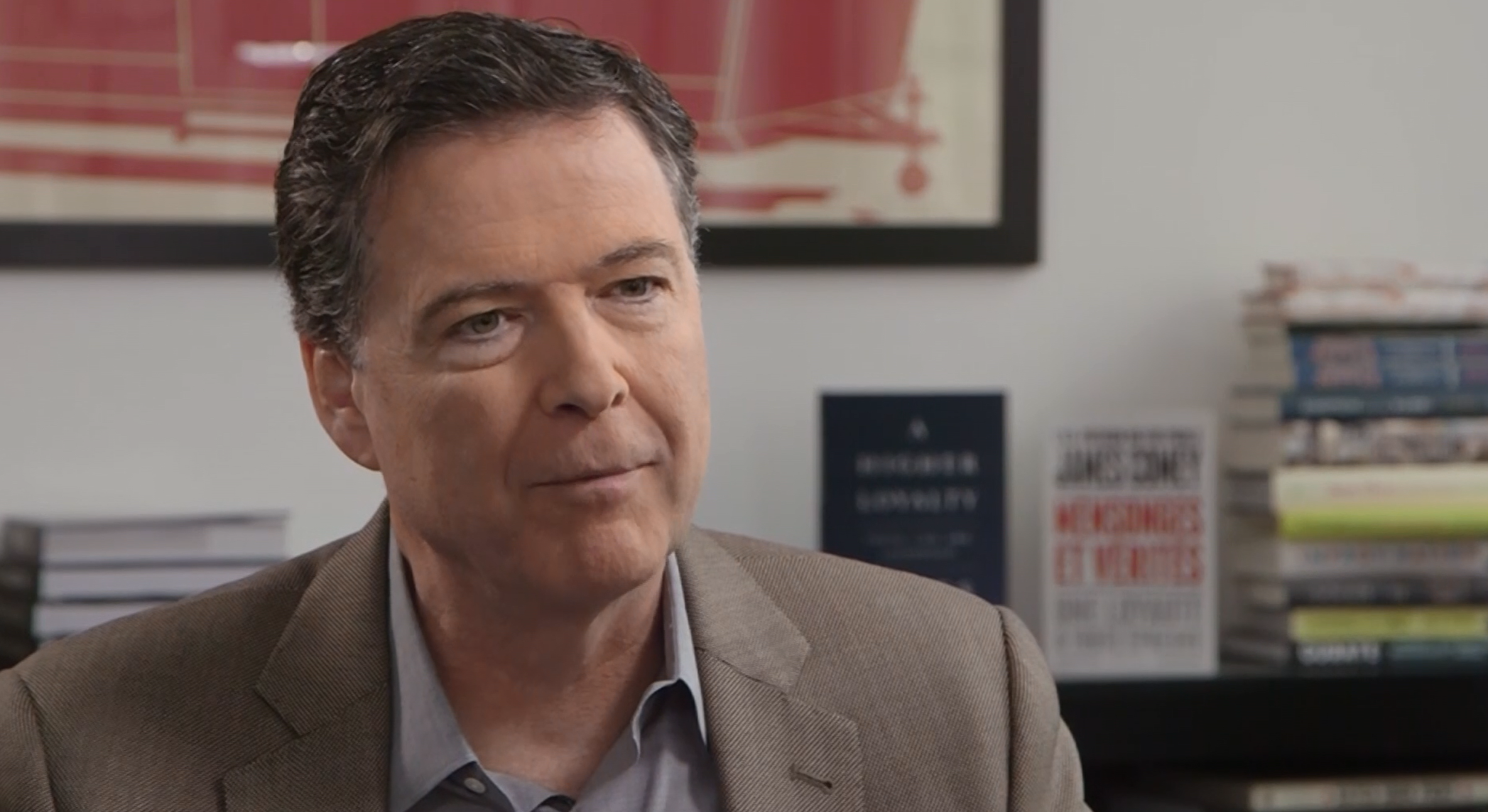 Former FBI Director James Comey speaks to BFMTV about his new book. (CNN Newsource)