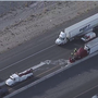 Semi-truck crash destroys 79,000 pounds of bananas on I-15 near St. Rose Pkwy.