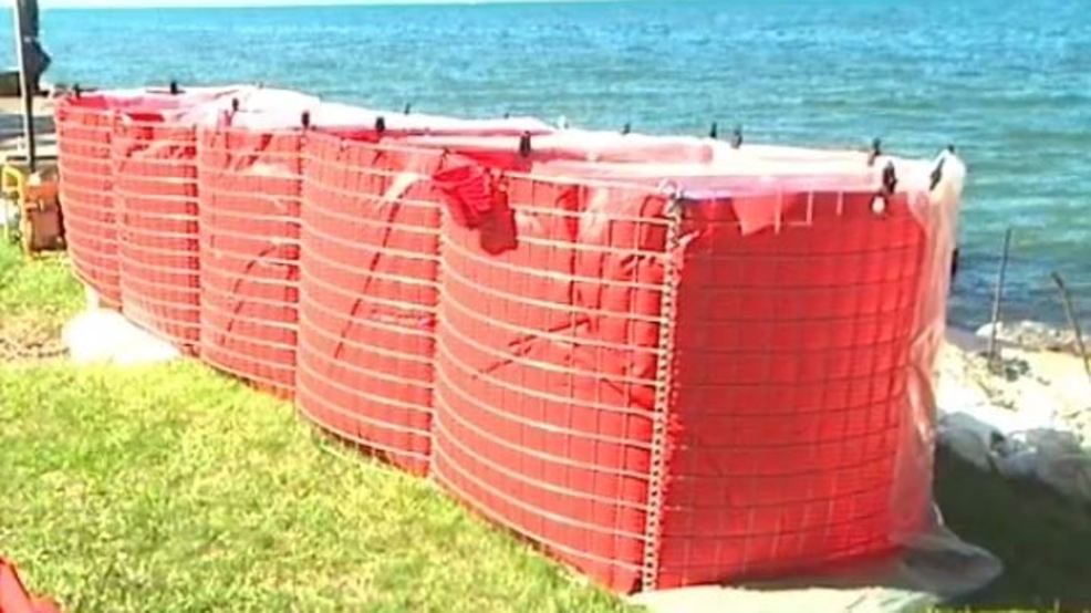 New barriers tried out to prevent flooding