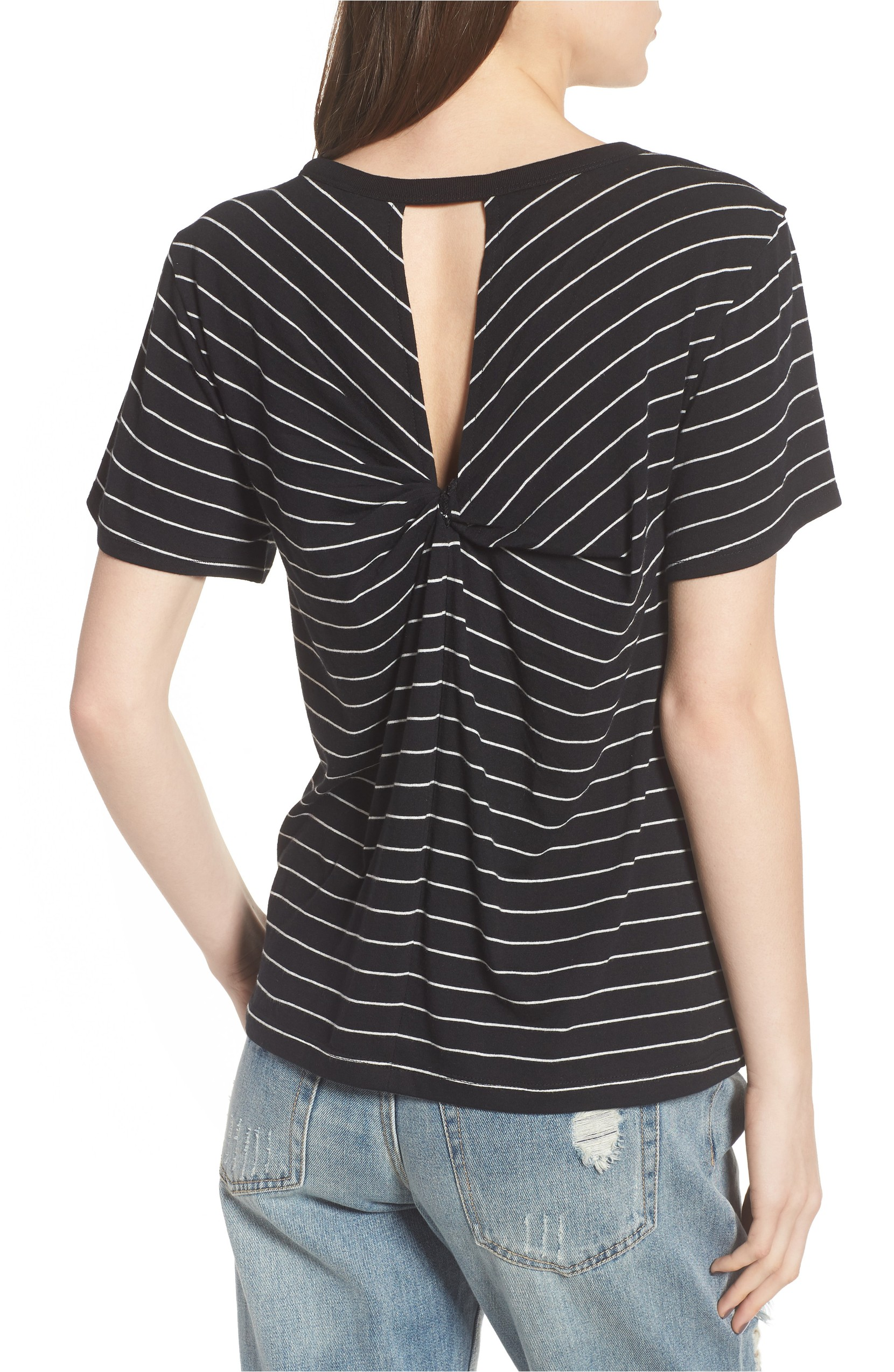 This Twist Back Tee was originally $25 and is now $14.98 A classic, supersoft tee gets a playful update with a twisted back cutout.<p>(Image: Nordstrom){&amp;nbsp;}</p>