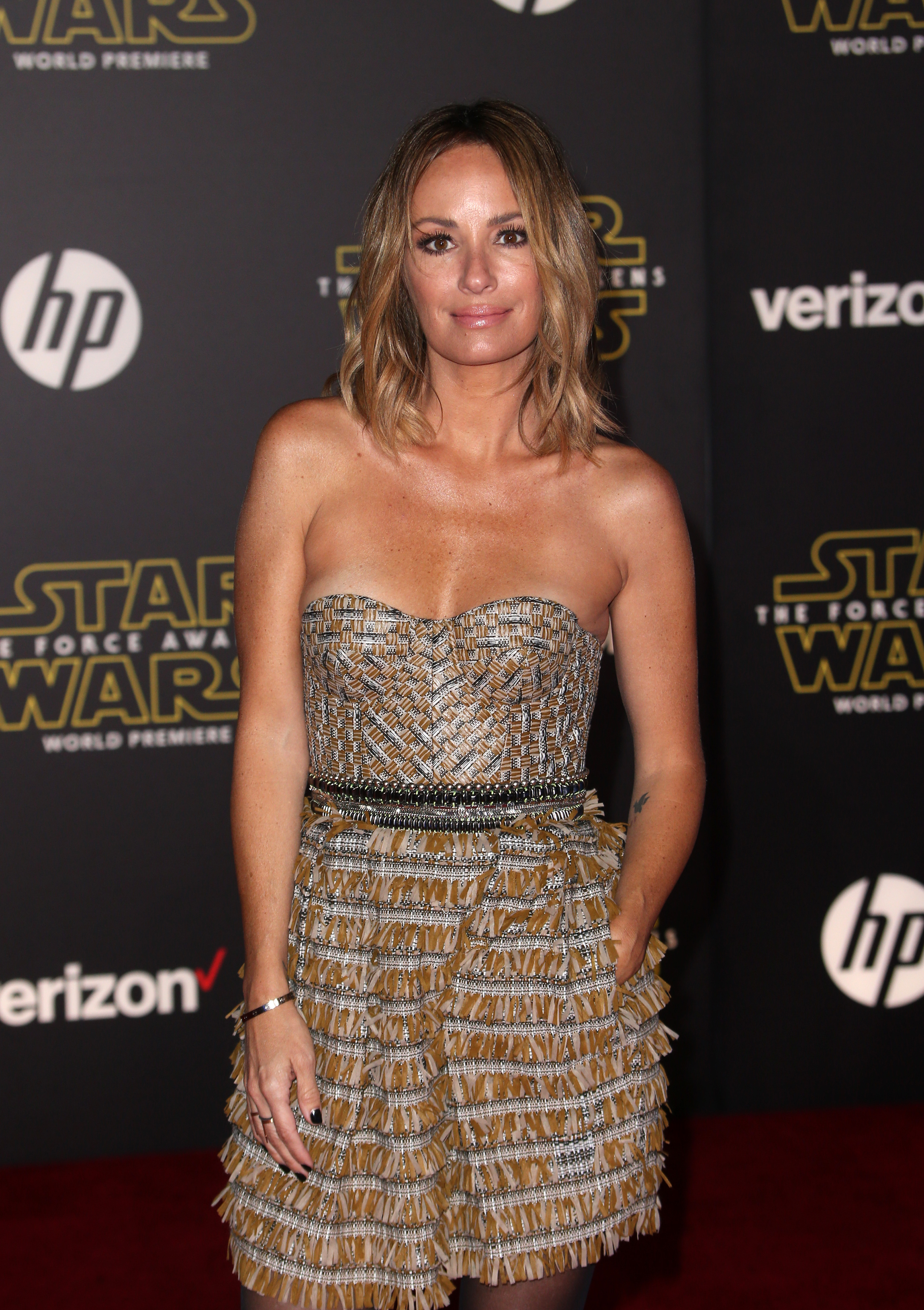 "Premiere Of Walt Disney Pictures And Lucasfilm's ""Star Wars: The Force Awakens""                                    Featuring: Catt Sadler                  Where: Hollywood, California, United States                  When: 15 Dec 2015                  Credit: FayesVision/WENN.com"