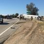 Semi rollover causes traffic delays