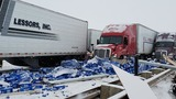 7 semi trucks, 2 cars crash on I-80 near Evanston; road temporarily closed