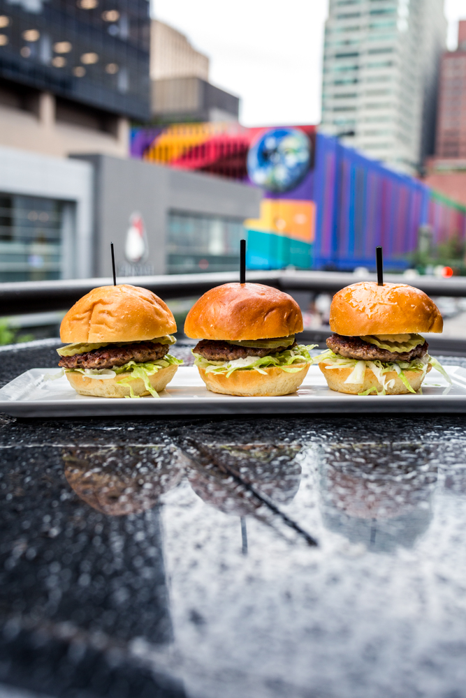 PLACE: Igby's / ADDRESS: 122 E. 6th Street (Downtown) / The Bigby's sliders from Igby's are made with Impossible burger patties and are served with lettuce, house-made tartar sauce, and pickles. Get the Impossible burger there before supplies run out. / Image: Catherine Viox // Published: 7.2.19
