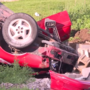 Rollover accident causes injuries to driver