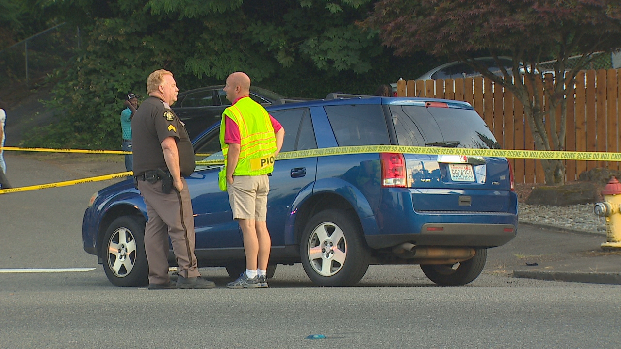 A 52-year-old motorcyclist was killed in a crash while trying to pass another car in a bike lane along Rainier Ave. S.  in South Seattle Friday evening, according to the King County Sheriff's Office. (Photo: KOMO News)