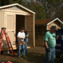 Friends in all places: Harvey victims receive storage sheds