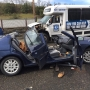 Car, bus collide in Roseburg; 2 taken to hospital with serious injuries