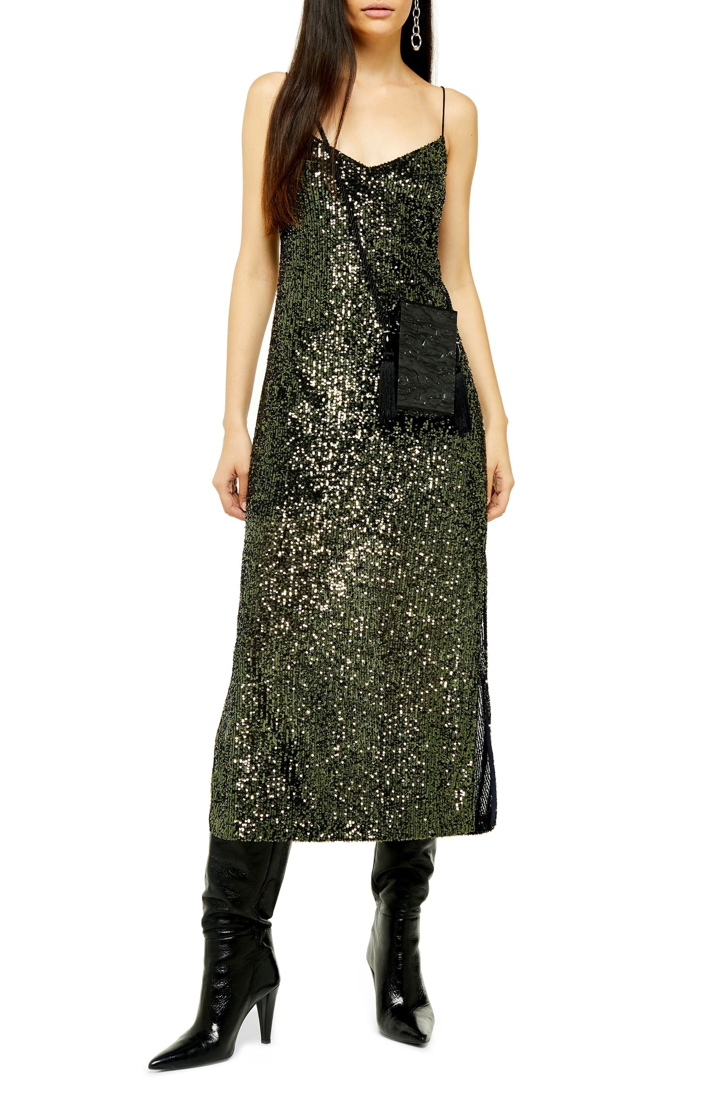 "<p>Allover sequins make this spaghetti-strap midi dress the perfect way to steal the scene, while a side slit provides a fun, flirty finish. $68</p><p><a  href=""https://shop.nordstrom.com/s/topshop-sequin-midi-dress/5459929/full?origin=category-personalizedsort&breadcrumb=Home%2FWomen%2FShop%20by%20Occasion%2FNight%20Out&color=olive"" target=""_blank"" title=""https://shop.nordstrom.com/s/topshop-sequin-midi-dress/5459929/full?origin=category-personalizedsort&breadcrumb=Home%2FWomen%2FShop%20by%20Occasion%2FNight%20Out&color=olive"">Shop it{&nbsp;}</a></p><p>(Image: Nordstrom){&nbsp;}</p>"