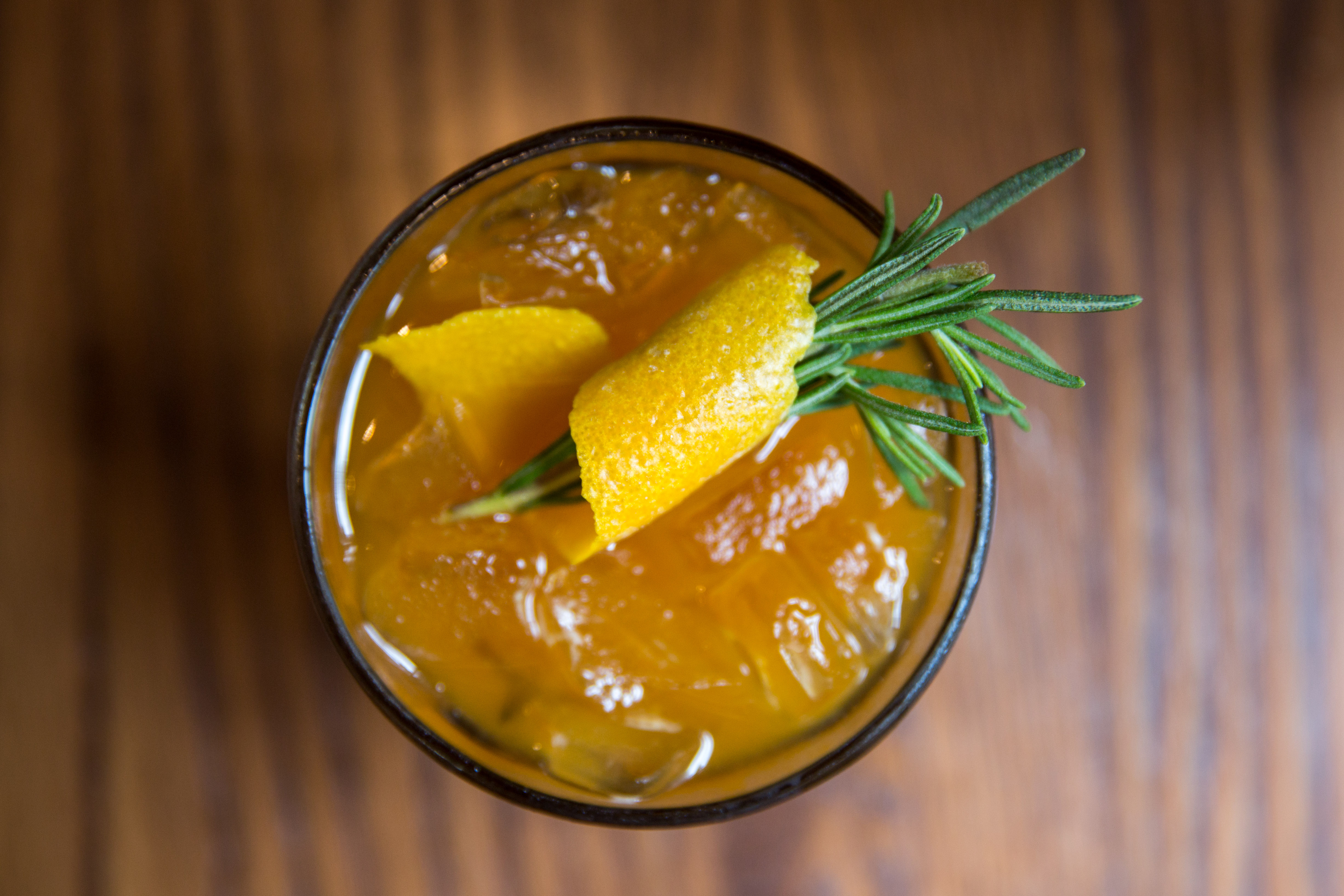 <p>Pumpkin Old Fashioned ($15), Old Forrester Bourbon, pumpkin puree, maple syrup, garnished with orange peel and rosemary.{&nbsp;}You can find these amazing pumpkin items at Tulio until October 31! (Image: Adela Lee).</p>