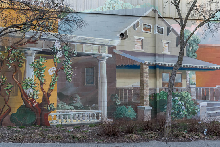 MURAL: Sunset Walk Through Helentown / ARTIST: ArtWorks / LOCATION: 315 E. 15th Street (41011) / IMAGE: Mike Menke // Published: 3.22.18