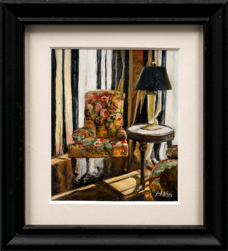 Tidewater Inn by Artist Elain Hahn. Photo by Larey McDaniel.{ }The Parklane Gallery Annual International Miniature Show in Kirkland features around 400 amazing works of art. Each is 5 x 5 or smaller.