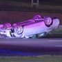 One injured in multi-vehicle rollover crash on I-40