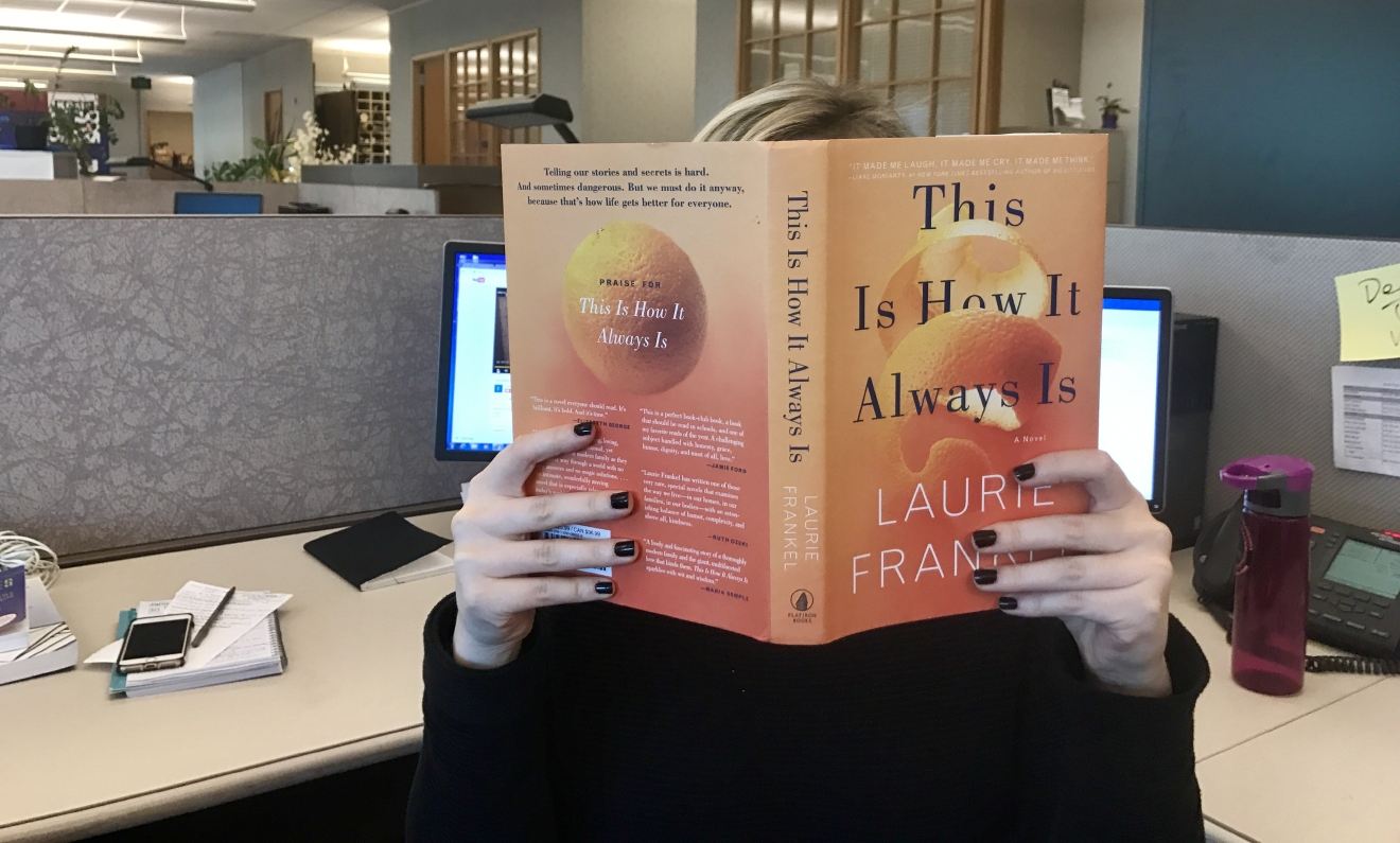 This month we'll be reading 'This Is How It Always Is' by local author Laurie Frankel. (Image: Seattle Refined)